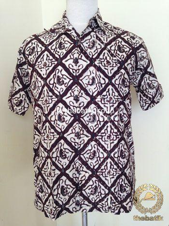 Kemeja Batik Pendek Motif Sido Luhur | #Indonesia Unique  #Batik Tops Shirt #Clothing Men Women http://thebatik.co.id/baju-batik/