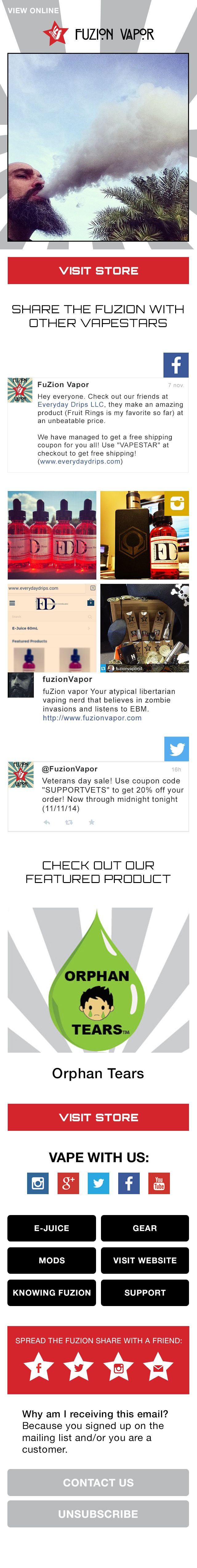 FuZion Vapor looks GREAT on mobile