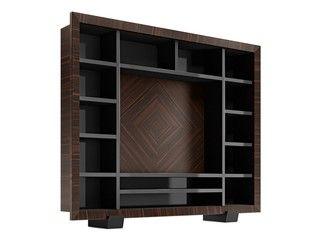 Mueble modular de pared de madera maciza con soporte para tv KALISPERA