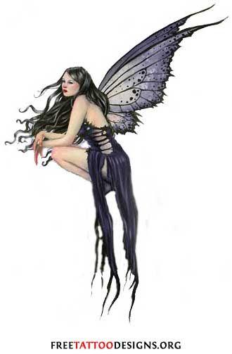 Gothic Fairy Tattoo