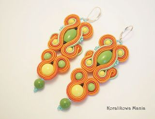sutaszowe kolczyki/ soutache earrings