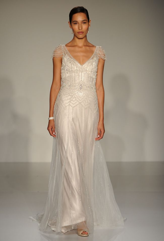 Maggie sottero 2015 wedding dresses introduce sheer and for Art deco wedding dresses