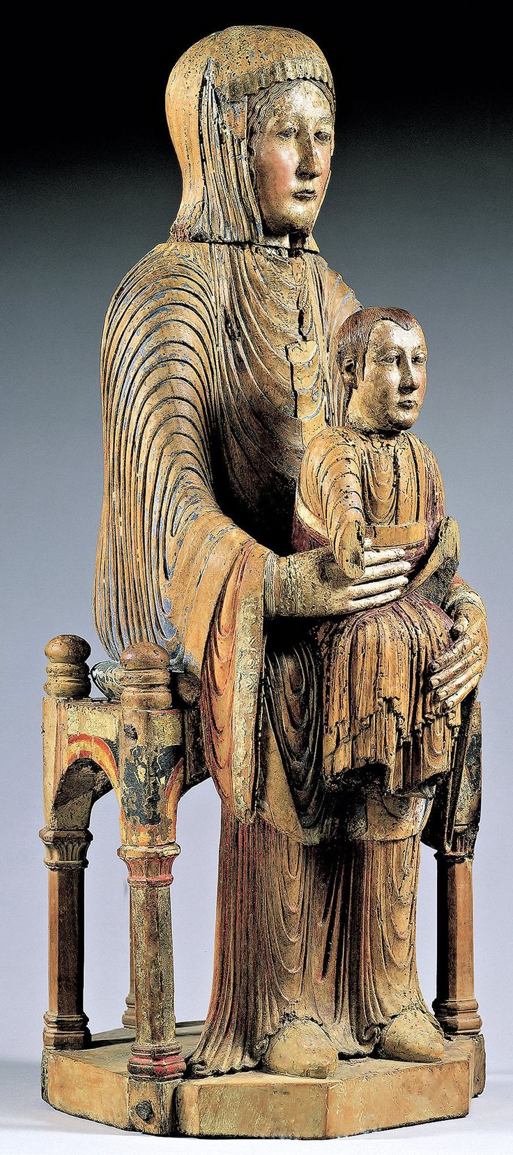 1x Virgin and Child (Morgan Madonna). Auvergne FR. 2nd half of 12th century.