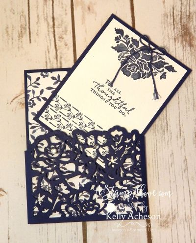 Floral Phrases suite of products pocket card - details in the post