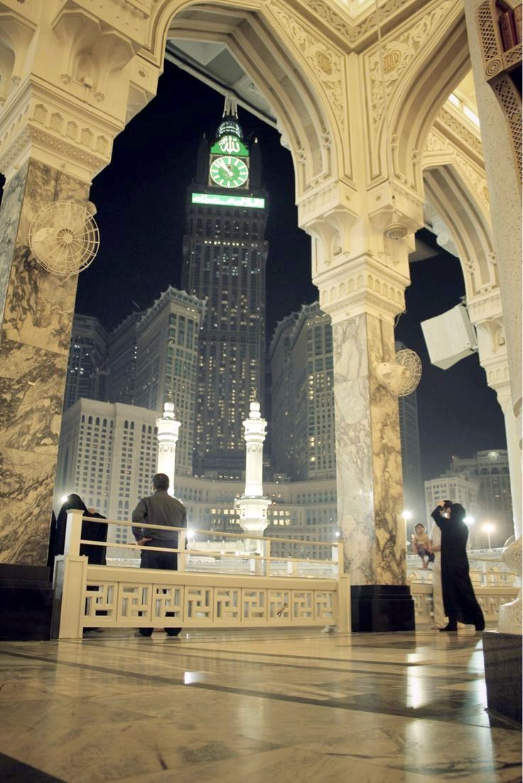 Modest and Fabulous View of the clock tower from #MasjidalHaram, #Makkah. #GreatMosque #HolyKaabah #Mecca #Islam #Muslims #Haj #Mosques #Hajj2017 #AlHaqTravel #UK