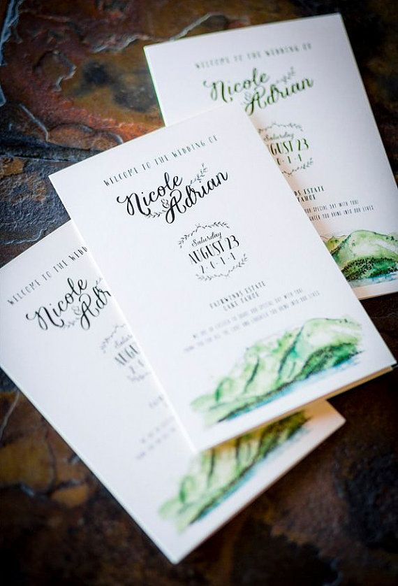Wedding Stationery Items: Programs Menu's Place by WideEyesPaperCo