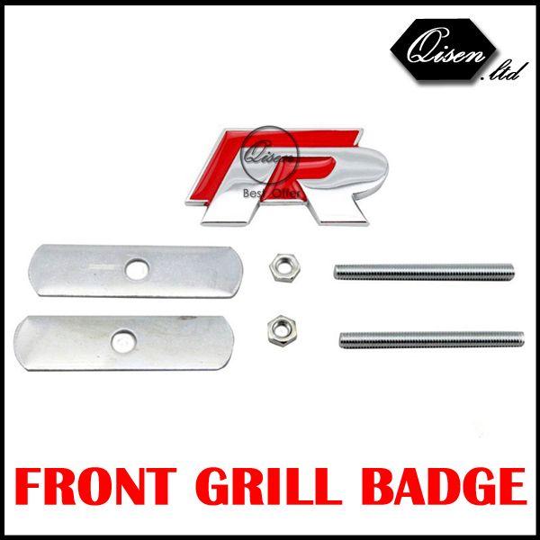 R Rline пауэр-метал 3D передняя решетка радиатора знак эмблема наклейки для VW Golf 6 Jetta MK5 MK6 поло passat B5 B6 B7 красный # SO102