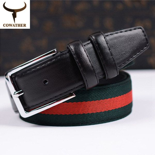 2014 new selling fashion automatic buckle genuine leather belts for men woven pattern cintos black 110-130 strap trousers belt