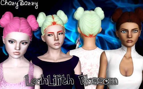 LeahLilith`s Blossom hairstyle retextured by Chazy Bazzy for Sims 3