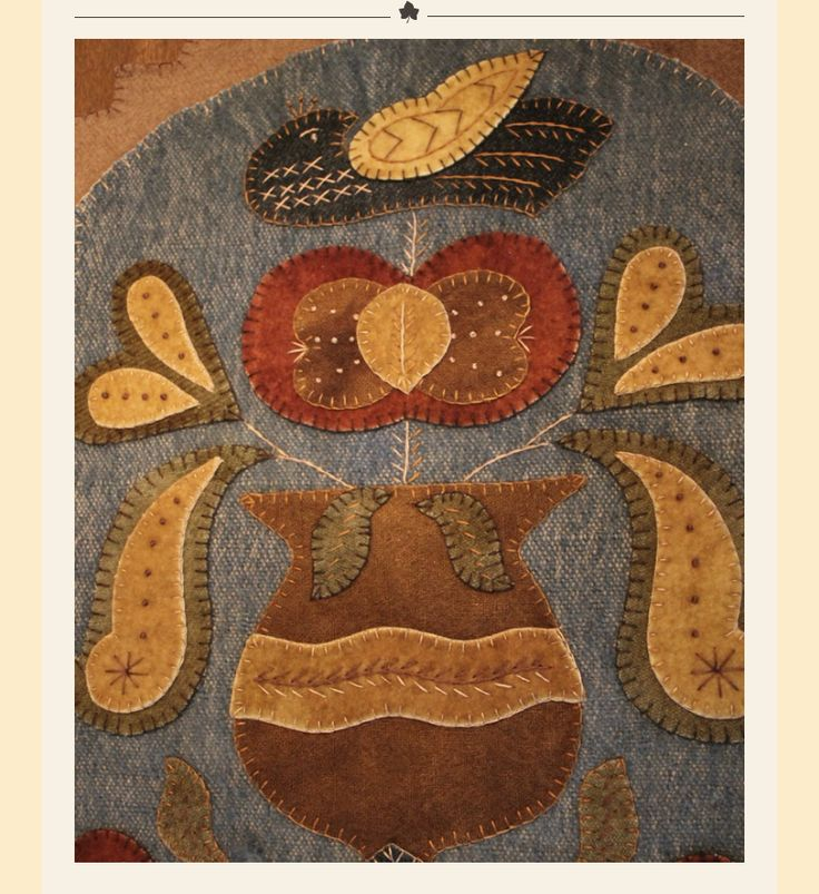 726 Best Woolwork Felt And Penny Rugs Images On Pinterest
