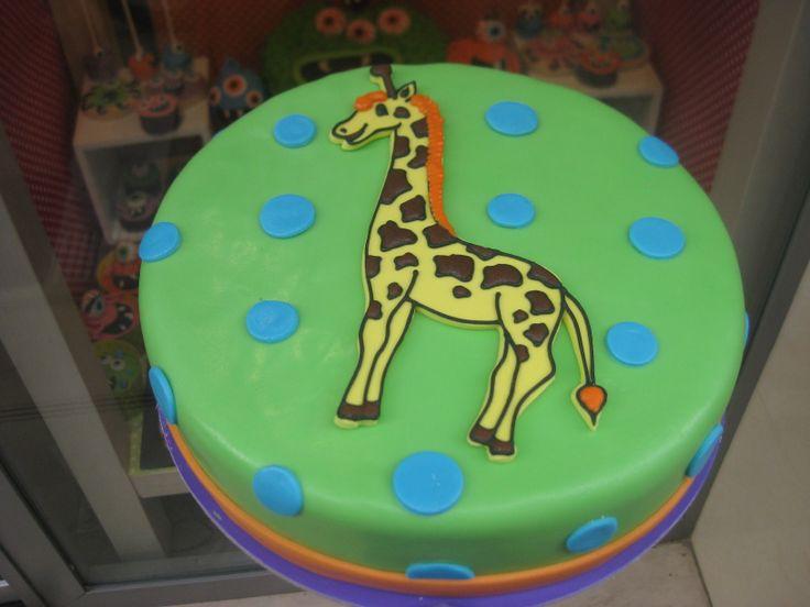 Τούρτες Γενεθλίων - Καμηλοπάρδαλη! #sugarela #TourtesGenethlion #kamilopardali #giraffe #BirthdayCakes