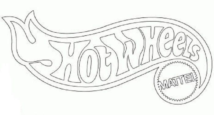 read morehot wheels logo coloring pages
