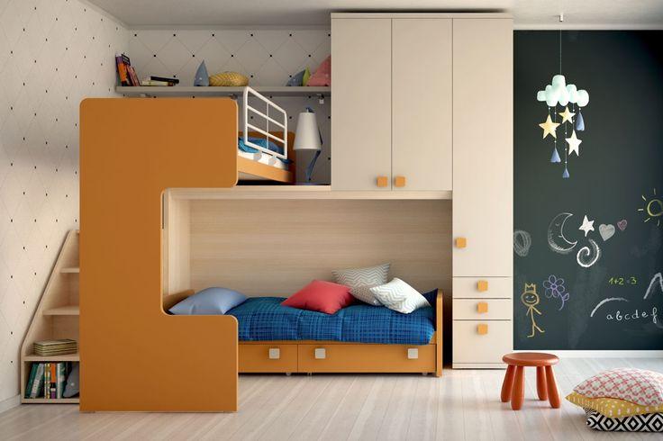 CAMERETTA - illustrazione fotorealistica di una cameretta per bambini, realizzata con c4D, marvelousdesigner, vray e photoshop