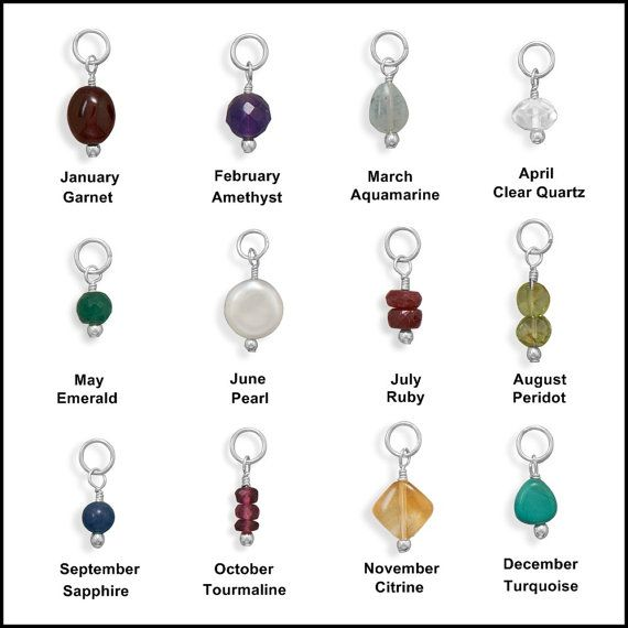 These brand new birthstone charms are genuine .925 sterling silver with genuine stones! They make wonderful gifts for any charm collector. Collect the birthstone for each member of your family and add them to your favorite necklace! Each charm comes with a Free 4mm split ring and a Free 5mm by 9mm lobster clasp so you can attach your new charm(s) to anything you like! They make great accessories for your cell phone case or as a unique and stylish zipper pull. Any ONE charm can be purchased…