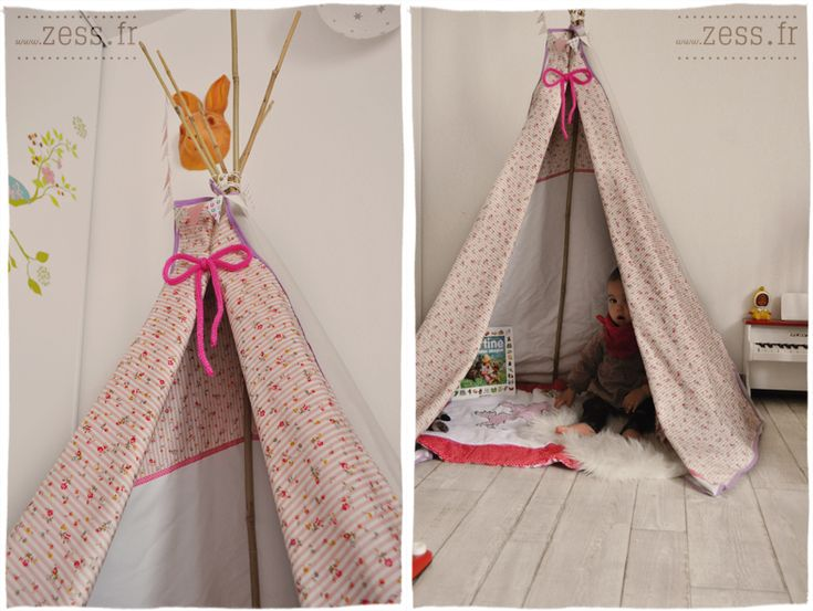 61 best tipi toile de tente enfant images on pinterest. Black Bedroom Furniture Sets. Home Design Ideas