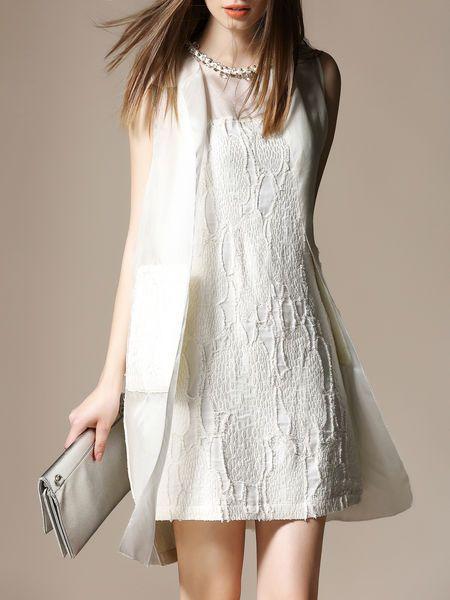 Paneled Pockets Silk Vest
