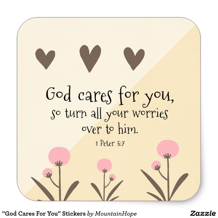"""""""God Cares For You"""" Stickers"""