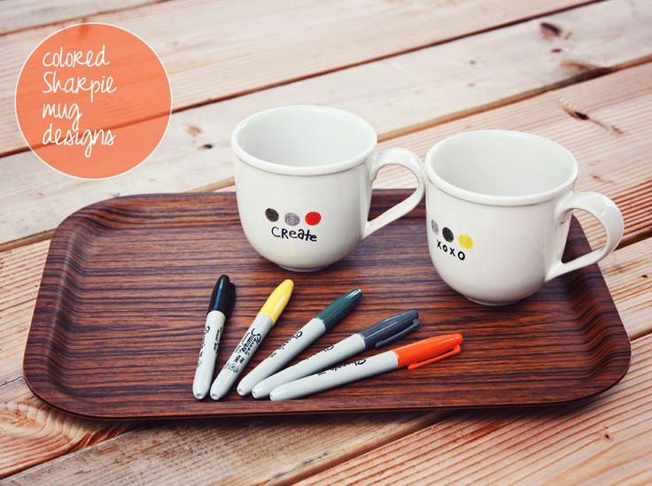M s de 25 ideas incre bles sobre horneado de taza con - Decorar tazas con rotulador permanente ...