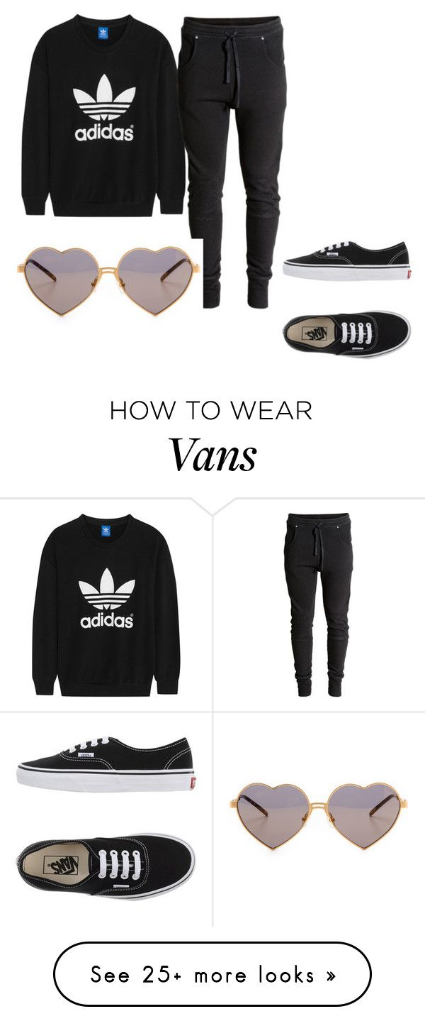 """""""life is realist"""" by sugarcybemac on Polyvore featuring adidas Originals, H&M, Wildfox and Vans"""