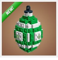 Instructions to make Christmas ornaments from Legos. Includes Star Wars ones! - Click image to find more DIY & Crafts Pinterest pins
