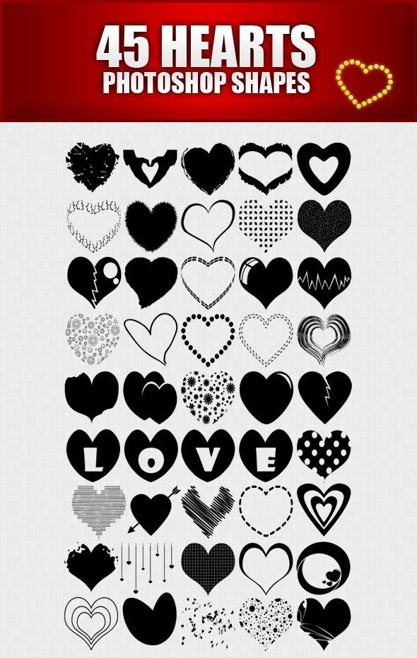 Hearts Shapes for Photoshop by sarthony.deviantart.com on ...