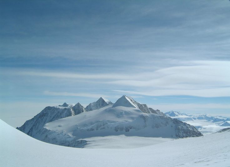 Antarctica. Mount Shinn from the top of the slopes of Vinson Massif (Photo: Phil Ershler).