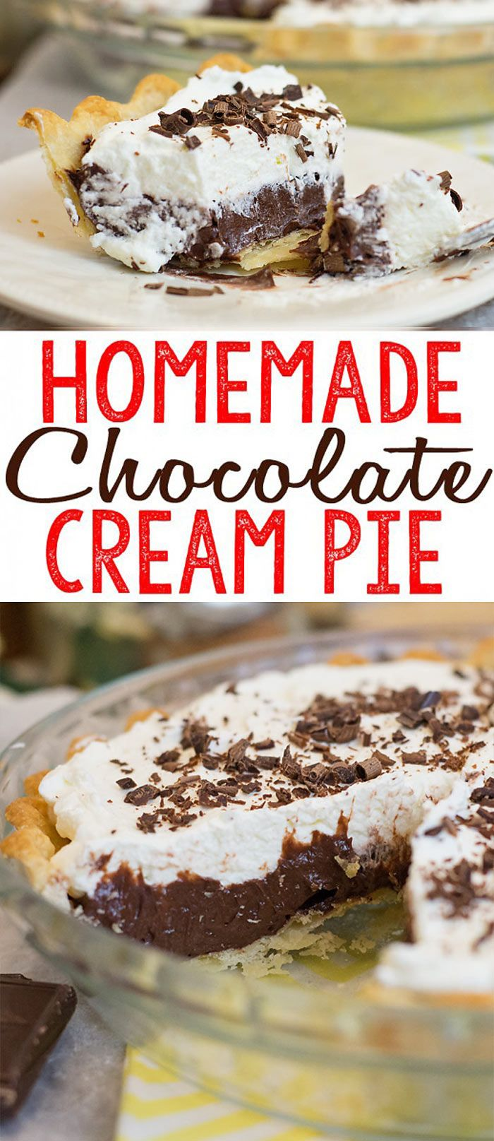 I love a good Chocolate Cream Pie, don'tyou?. So luscious, creamy and chocolatey... This Homemade Chocolate Cream Pie recipe is surprisingly easy to make and I think you'll agree, this might be the best Chocolate Cream pie ever.