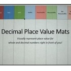 """Decimal Place Value Mats: Montessori-inspired Inspired by the Montessori golden decimal mat, these 8.5x14 """" mats can be used to introduce the concept of decimal place values. $"""