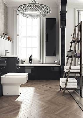Newton gloss #black bathroom furniture collection wc, #vanity, bath panel, #stora,  View more on the LINK: http://www.zeppy.io/product/gb/2/252416720586/