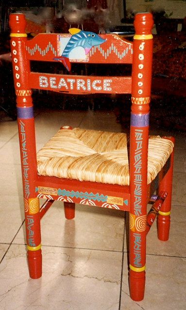 Hand Painted Chairs; Sit down in style!