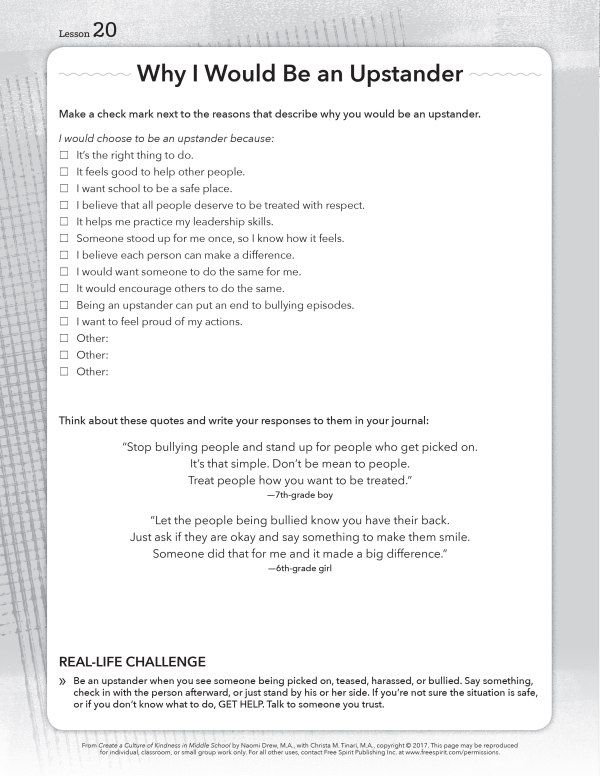 Free Printable Worksheets About Bullying