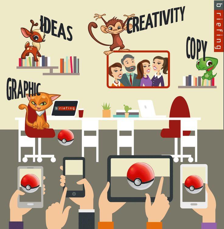 """GOTTA CATCH 'EM ALL LET'S PLAY WITH #POKEMONGO (C)  SIAMO ALLENATI A CREARE!  Catturiamo #creatività, idee, #grafica e copy e le facciamo """"evolvere"""" in #comunicazione.  E' il gioco del momento! Questa è la nostra interpretazione del mondo #Pokemon (C) #AugmentedReality  ************   TO CREATE AND PLAY IS EASY FOR US!  We turn #creativity, ideas, #graphic and copy into business #communication  It's time to play! This is our interpretation of the #Pokemon (C) world."""