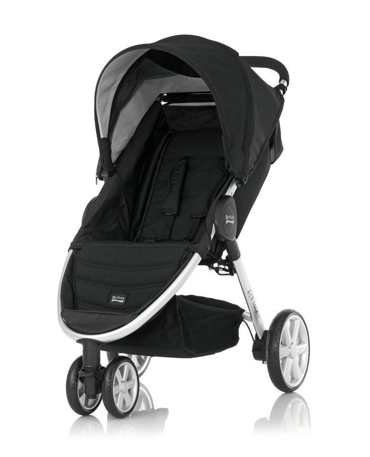Britax B-Agile 3 Wheel Pushchair - Black/Chrome