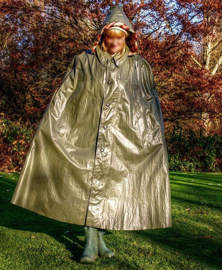 VINTAGE KLEPPER CAPE GRÜN RAINCAPE KLEPPERMANTEL RAINCOAT GUMMIMANTEL REGENCAPE in Kleidung & Accessoires, Herrenmode, Jacken & Mäntel | eBay!