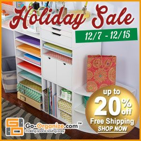 #Papercrafting Products NEW Release Shares: NEW #Storage and #Organization products from Go-Organize.com! And right now you can SAVE BIG during their holiday sale, and enter to WIN! #organizing #organization #storage