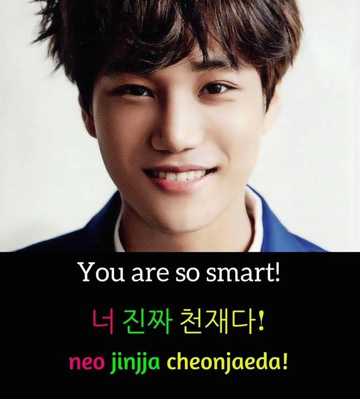 You are so Smart in Korean