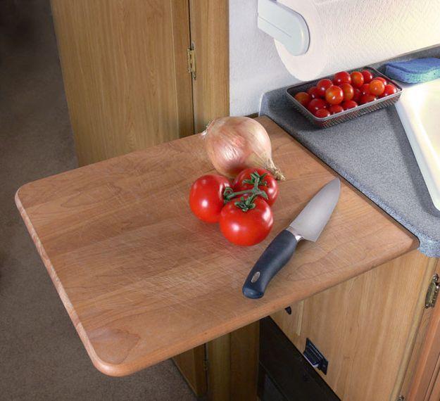 Tabla plegable para preparar la comida