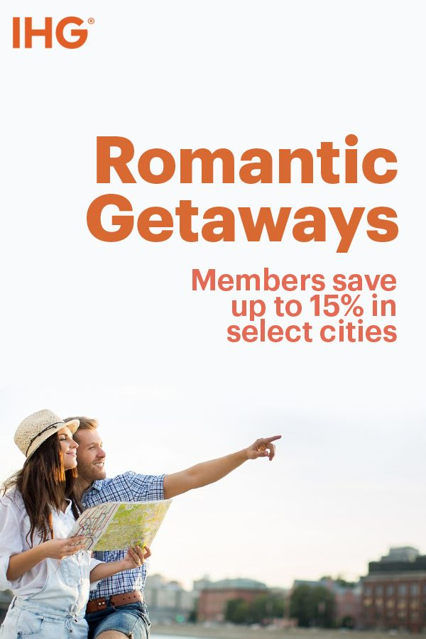 Need to get away? IHG has hotels in romantic cities, made for a lover's getaway. Whether you're enjoying an idyllic stroll through Central Park, grabbing a cocktail in the French Quarter, or eloping on the Vegas strip, IHG has a room for you. Book today at ihg.com.