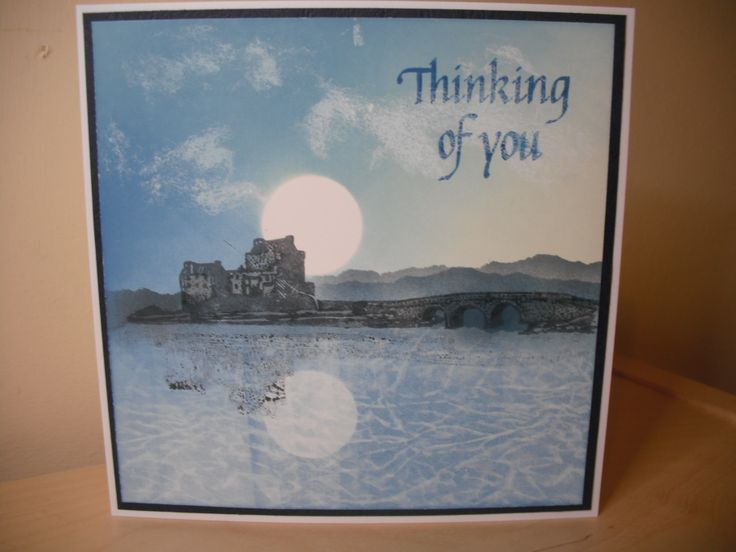 Claritystamp Scottish castle. Image reflection stamped with Splodgemat