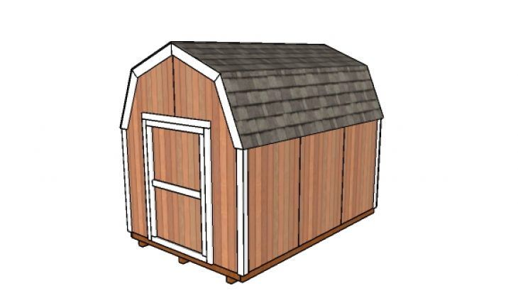 8x12 Gambrel Shed Free Diy Plans Howtospecialist How To Build Step By Step Diy Plans Free Shed Plans Shed Plans Shed