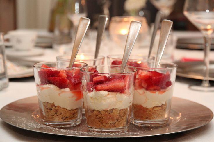 Ostekake på glass | TRINEs MATblogg