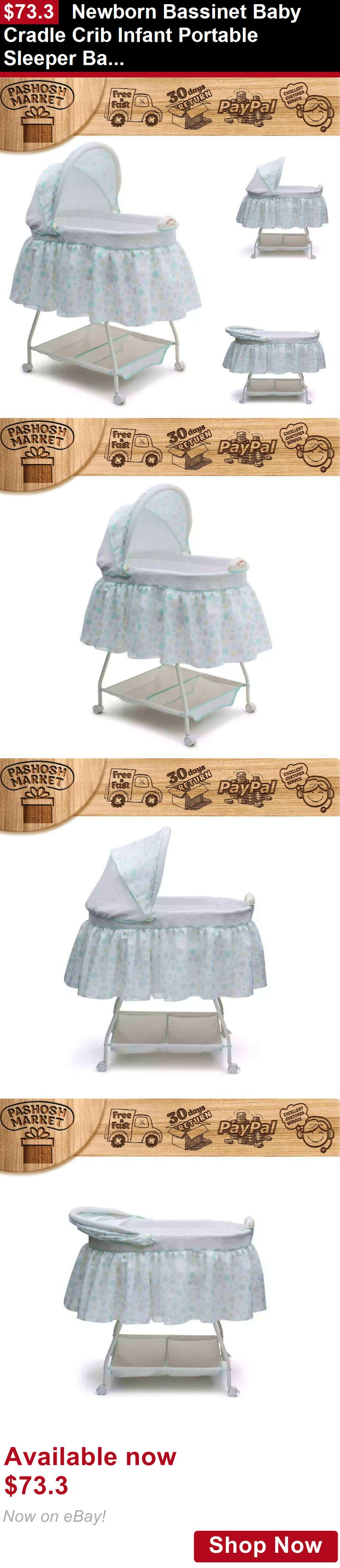 Baby bed vs bassinet - Bassinets And Cradles Newborn Bassinet Baby Cradle Crib Infant Portable Sleeper Baby Bed Dots