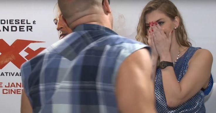 """Vin Diesel le quería """"echar diesel"""" a la colega brasileña, y ella de papelera dizque estaba incómoda, pero de chivirica…."""
