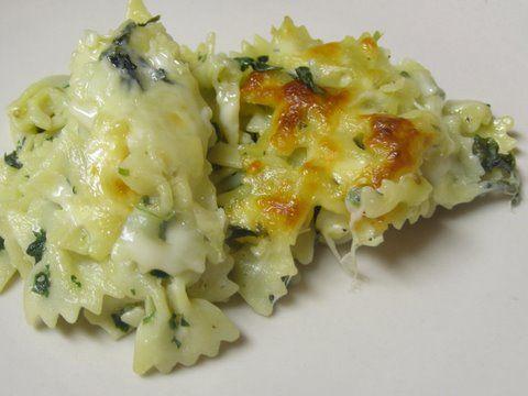 Pasta & Spinach Casserole Dish