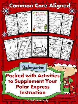 POLAR EXPRESS MATH AND LITERACY (40 PAGES OF CCSS ALIGNED PRINT & GO ACTIVITIES) - TeachersPayTeachers.com
