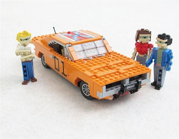 cool movie cars made out of lego duke cars and lego. Black Bedroom Furniture Sets. Home Design Ideas