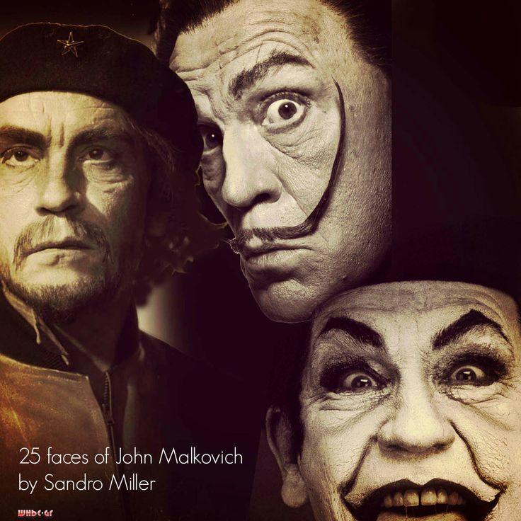 """WHBC-GR: Τα 25 """"πρόσωπα"""" του Τζον Μάλκοβιτς από το φωτογράφο Σάντρο Μίλερ"""