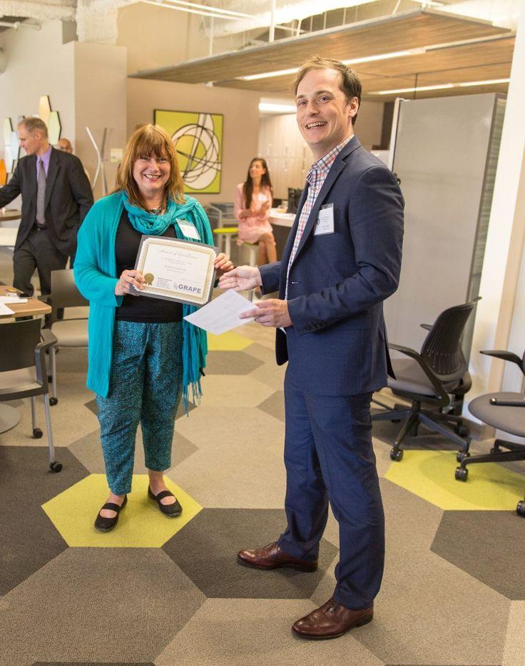 Roberta Lathrop- GRAPE LEAD Award for Distinguished Leadership in Design Services