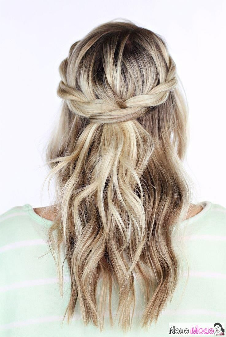 Halboffene Frisur Neue Halboffene Frisuren 2019 Abiball Frisuren Halboffen Brautfrisur Halboffen Festliche Wedding Hair Down Hair Styles Long Hair Styles