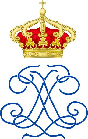 Royal Monogram of Maria Francisca of Savoy, Queen of Portugal